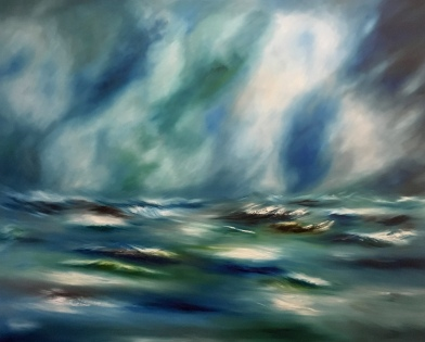 """""""In to the blue"""" £400.00"""