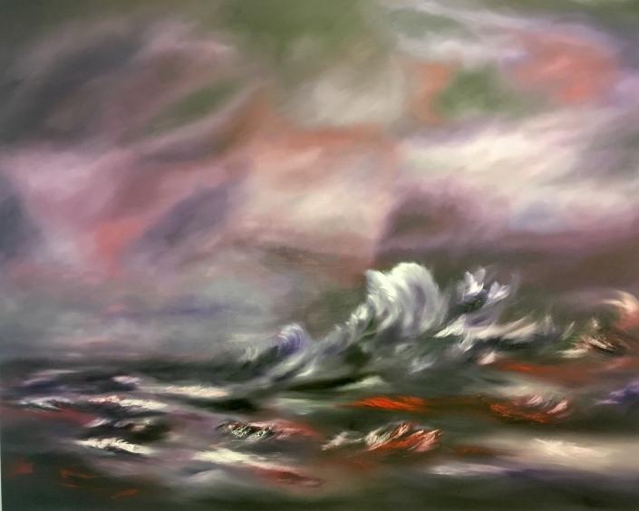"""""""Purple waves""""£400.00"""